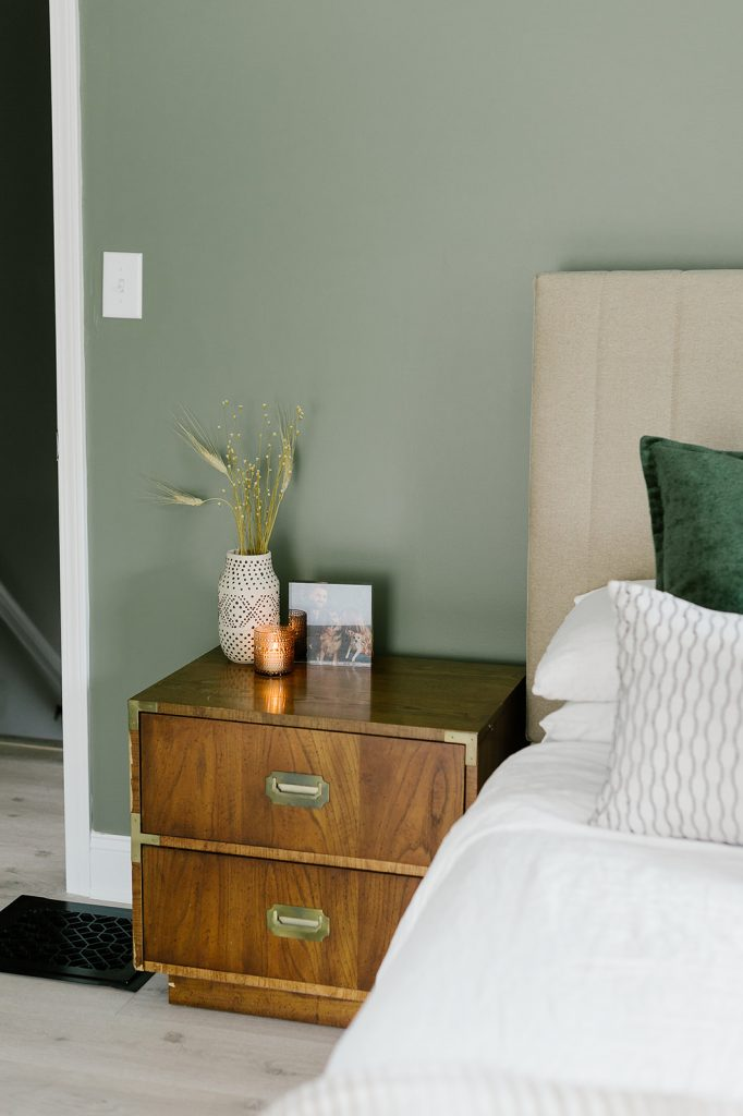 Our Sage Green Guest Bedroom With Midcentury Furniture Miranda Schroeder